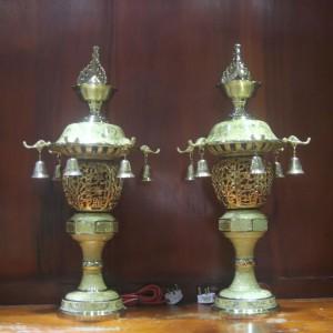 Đèn thờ đồng dát vàng 24k cao 60cm