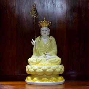 Tượng đức Địa Tạng bằng đá nano vàng 50cm