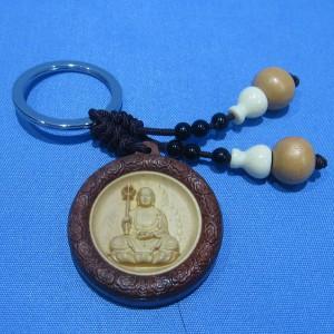 Móc chìa khóa mặt Địa Tạng Bồ Tát hình tròn