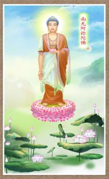 Tranh ép gỗ Phật A-di-đà