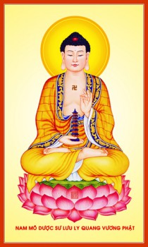 Tranh ép gỗ Phật Dược Sư