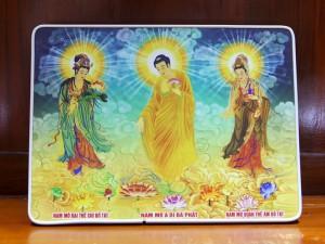 Tranh Tây Phương Tam Thánh để bàn