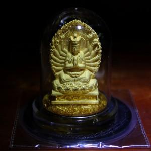 Tượng Phật Đề để xe ô tô kẽm xi vàng