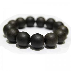 Vòng tay trầm đen hạt 20mm rất thơm