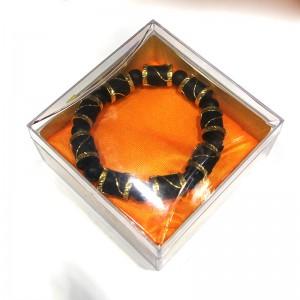 Vòng đeo tay bằng trầm đen Indo bọc vàng